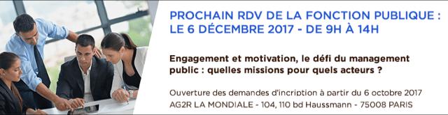 RDV fonction publique du 6 décembre 2017