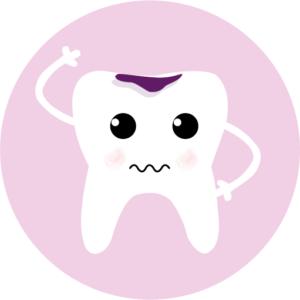 icone dent carriée