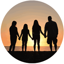 Famille protégée par assurance capital décés