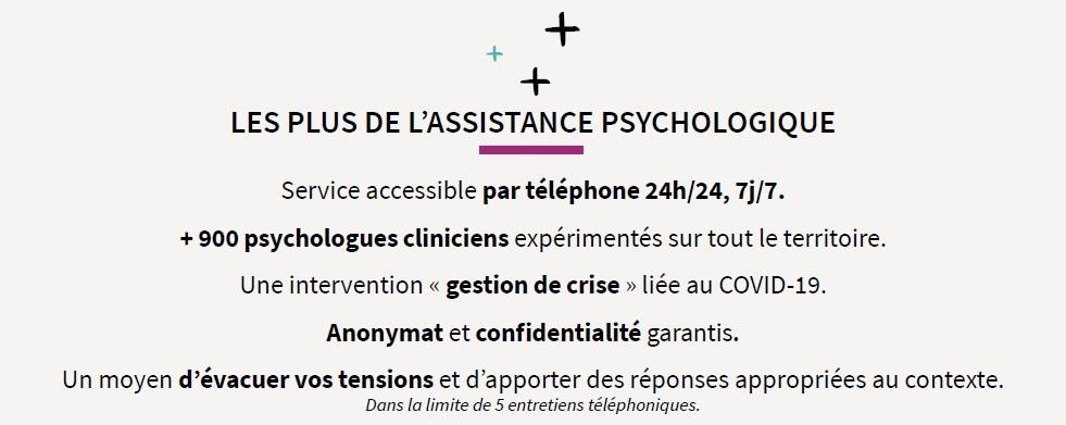 Bénéfices de l'assistance psychologique